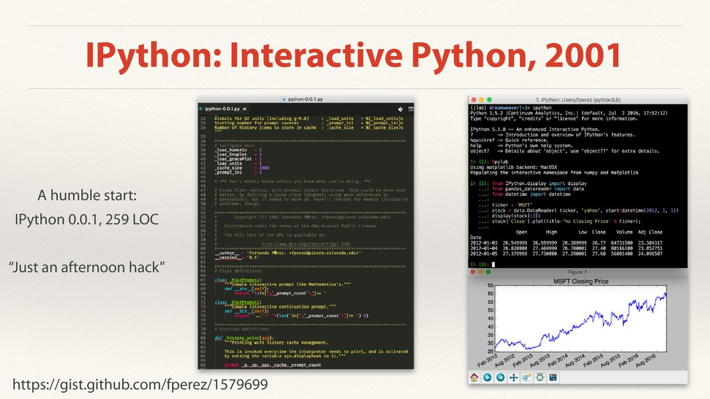 IPython: Interactive Python, 2001 A humble star...