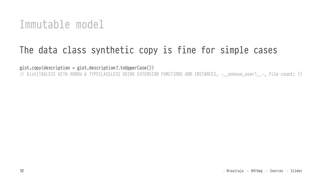 Immutable model The data class synthetic copy i...