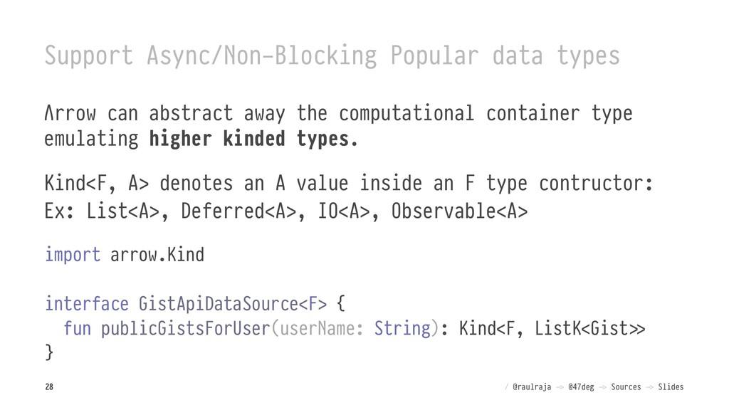 Support Async/Non-Blocking Popular data types Λ...