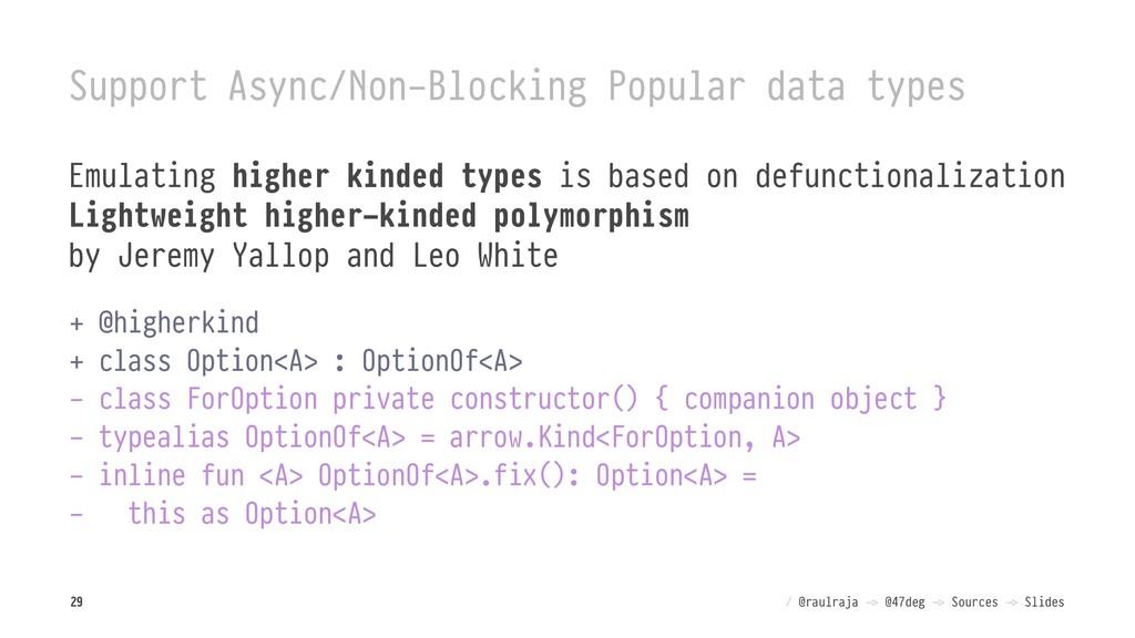 Support Async/Non-Blocking Popular data types E...
