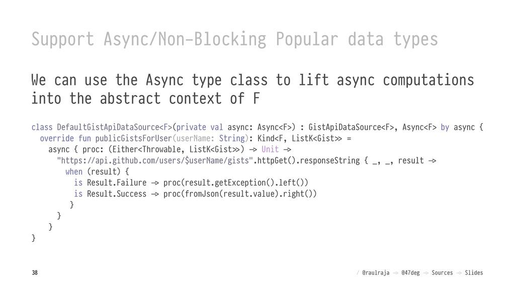 Support Async/Non-Blocking Popular data types W...