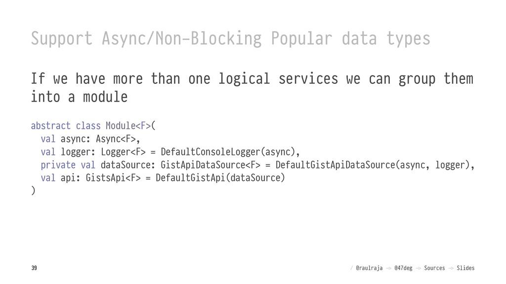 Support Async/Non-Blocking Popular data types I...