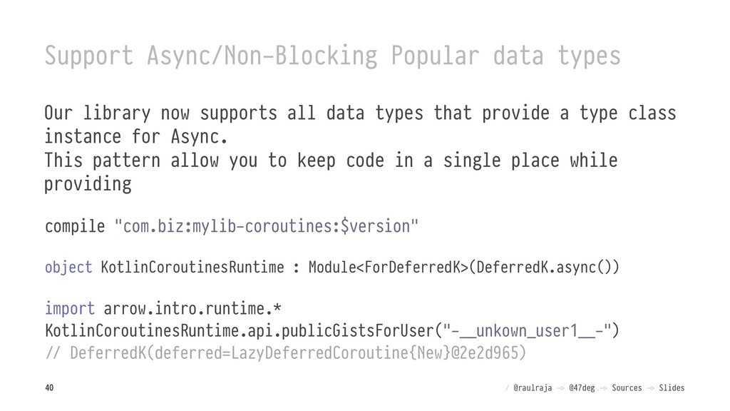 Support Async/Non-Blocking Popular data types O...