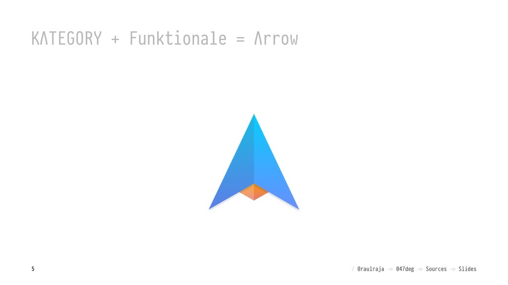 """KΛTEGORY + Funktionale = Λrrow / @raulraja !"""" @..."""