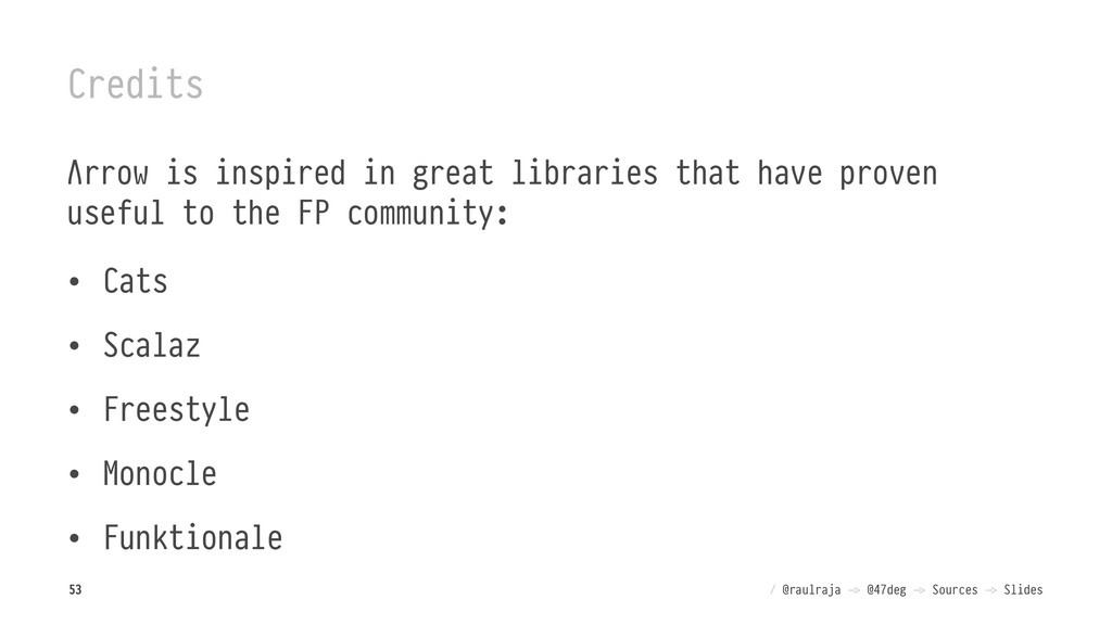Credits Λrrow is inspired in great libraries th...