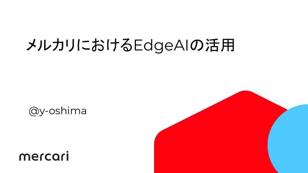 メルカリにおけるEdgeAIの活用 @y-oshima