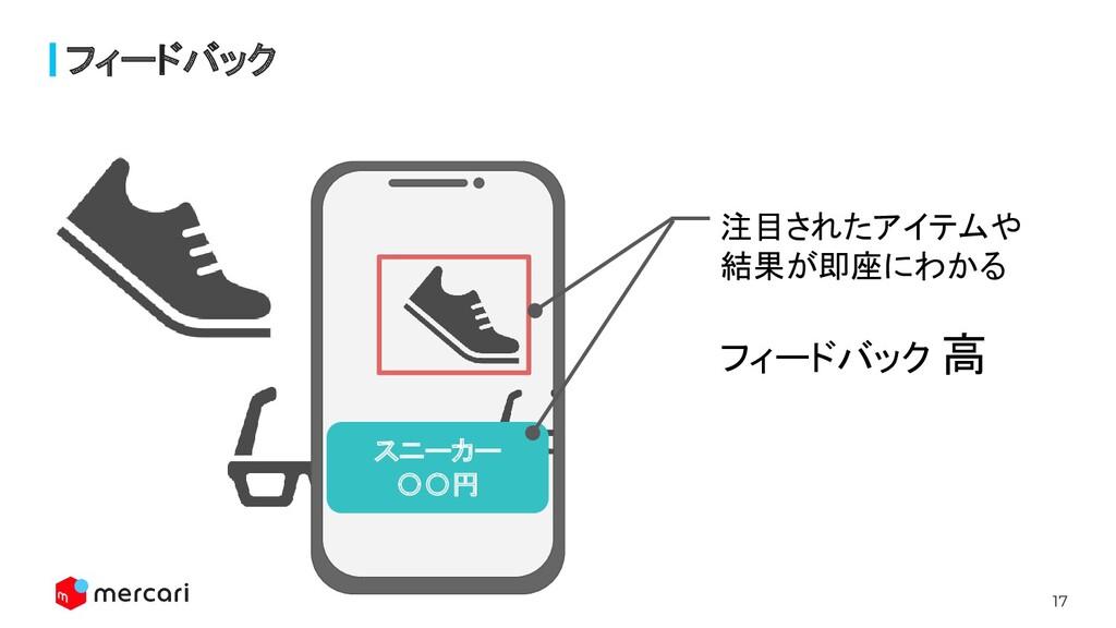 17 フィードバック スニーカー 〇〇円 注目されたアイテムや 結果が即座にわかる フィードバ...