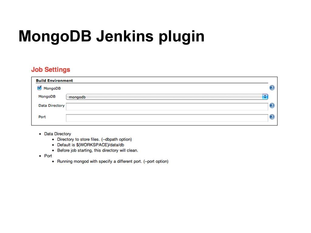 MongoDB Jenkins plugin