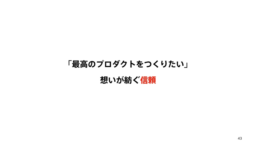 43 ʮ࠷ߴͷϓϩμΫτΛͭ͘Γ͍ͨʯ ͍͕͙৴པ