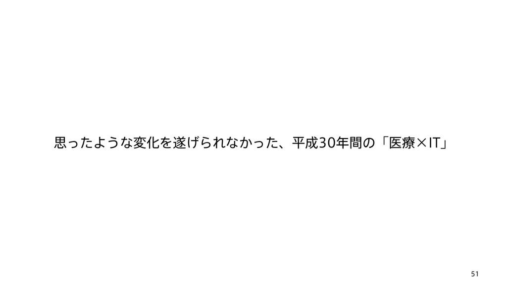 51 ࢥͬͨΑ͏ͳมԽΛ͛ΒΕͳ͔ͬͨɺฏؒͷʮҩྍʷ*5ʯ