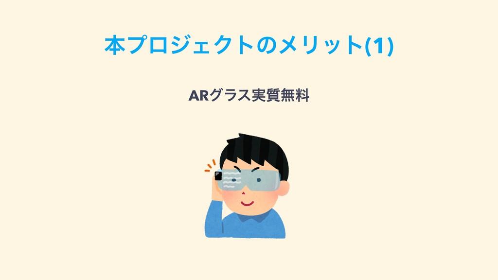 ຊϓϩδΣΫτͷϝϦοτ(1) ARάϥε࣮࣭ແྉ