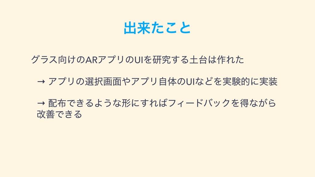 ग़དྷͨ͜ͱ άϥε͚ͷARΞϓϦͷUIΛݚڀ͢Δ࡞Εͨ → ΞϓϦͷબը໘ΞϓϦࣗ...
