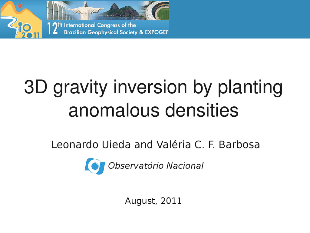 3D gravity inversion by planting anomalous dens...