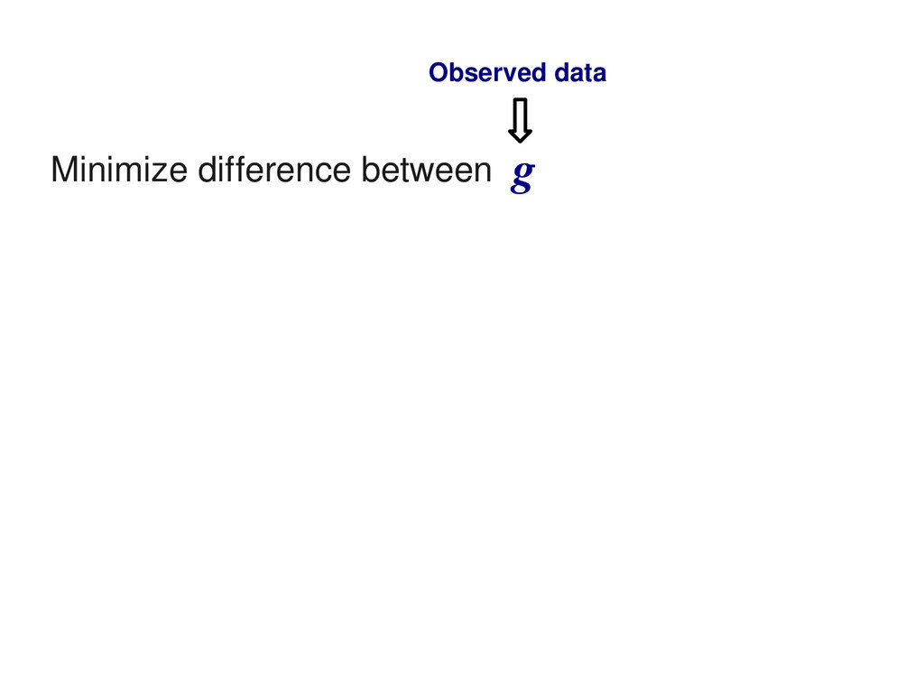 Minimize difference between g Observed data