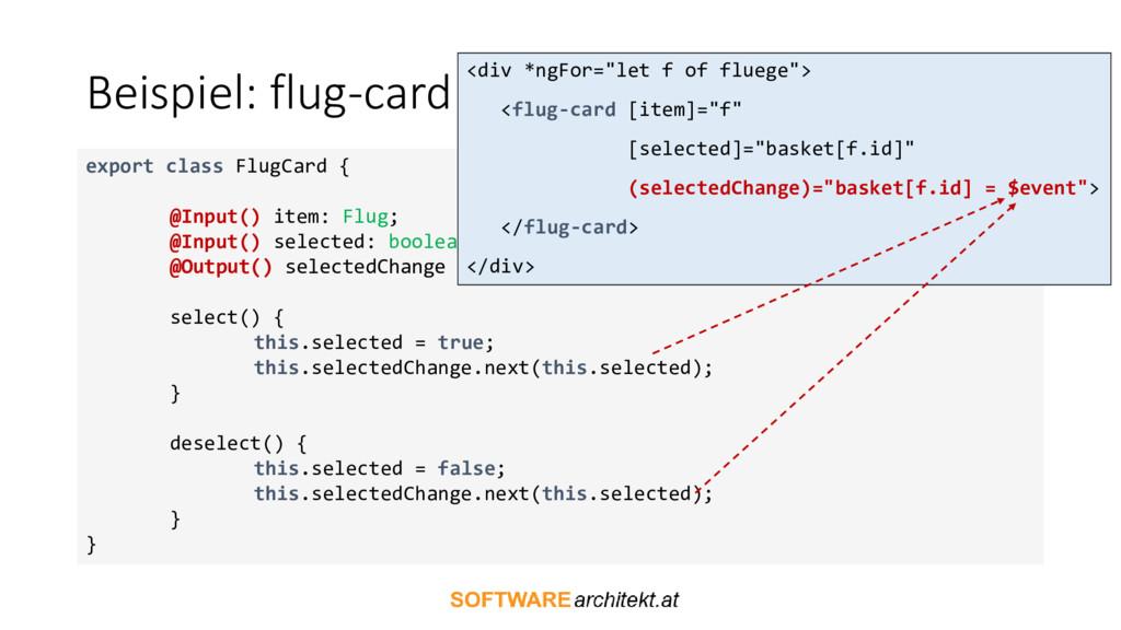 Beispiel: flug-card export class FlugCard { @In...