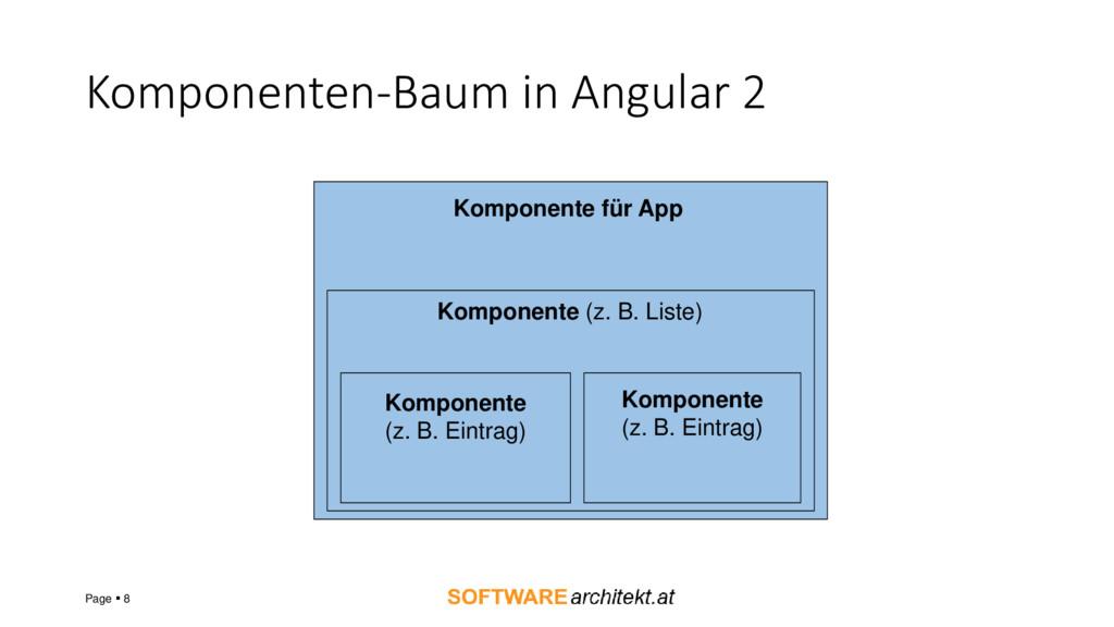 Komponenten-Baum in Angular 2 Page ▪ 8 Komponen...