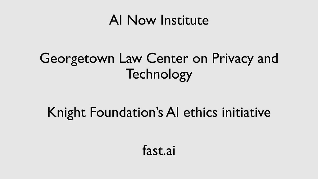 AI Now Institute Georgetown Law Center on Priva...