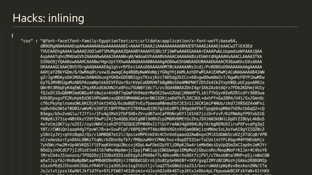 Example of base64 json'ifed fonts Hacks: inlini...