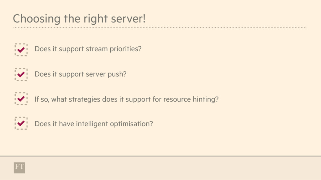 Choosing the right server! Does it support stre...