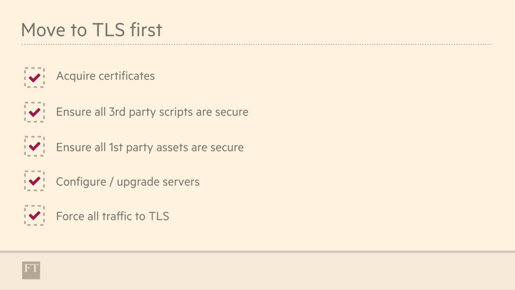 Move to TLS first Acquire certificates * * Ensu...