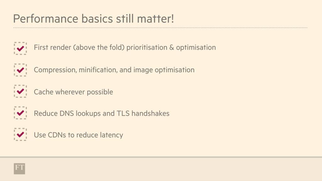 Performance basics still matter! First render (...