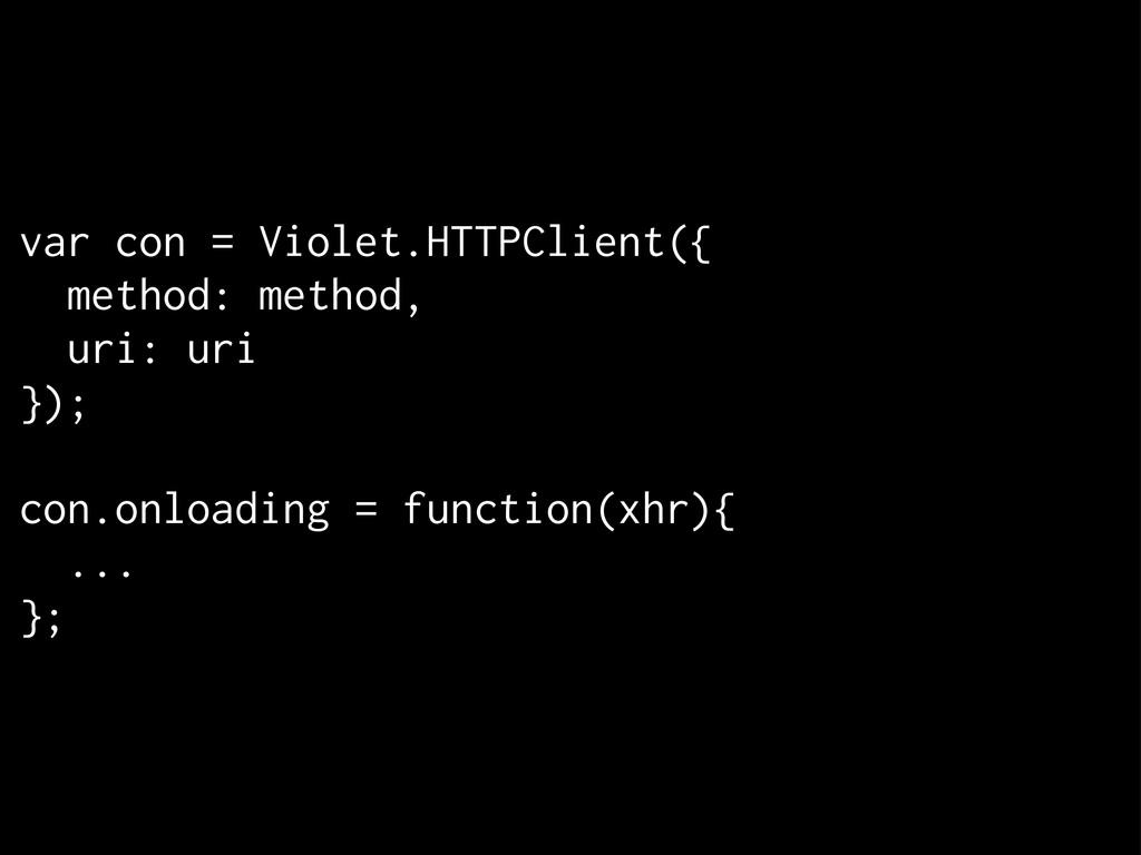 var con = Violet.HTTPClient({ method: method, u...