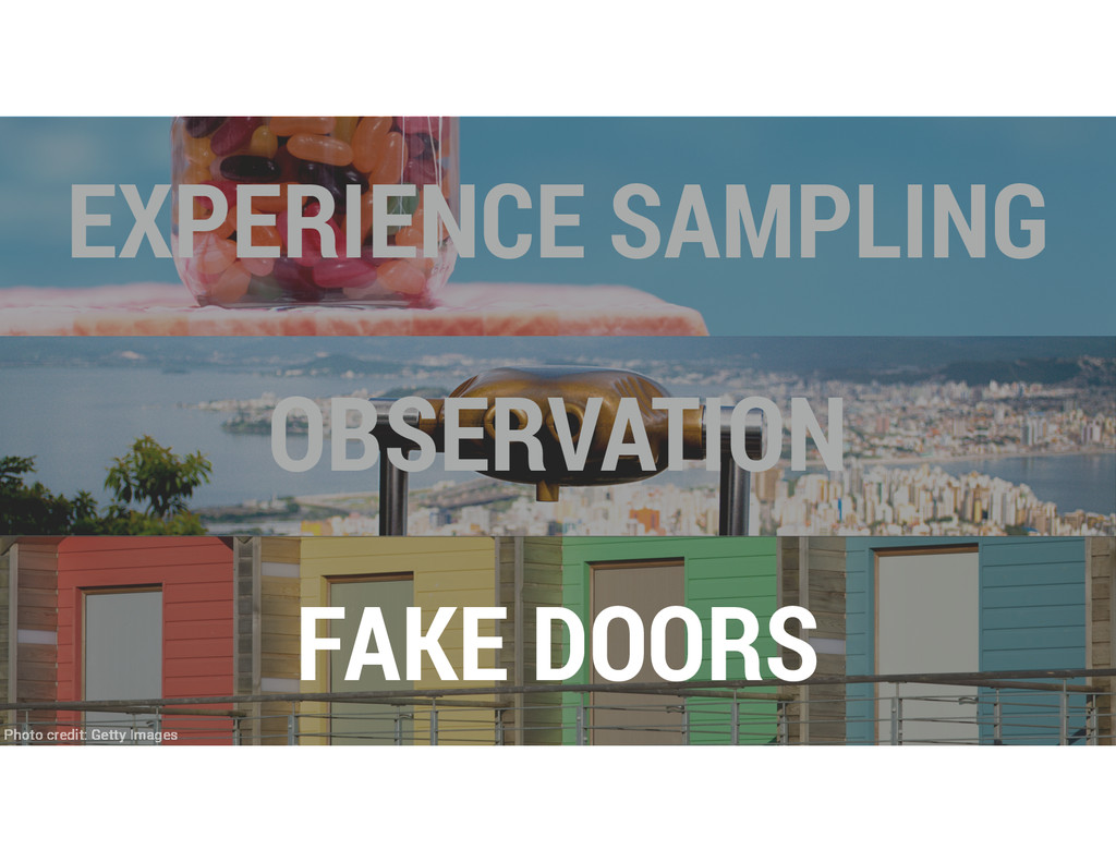 OBSERVATION EXPERIENCE SAMPLING FAKE DOORS Phot...