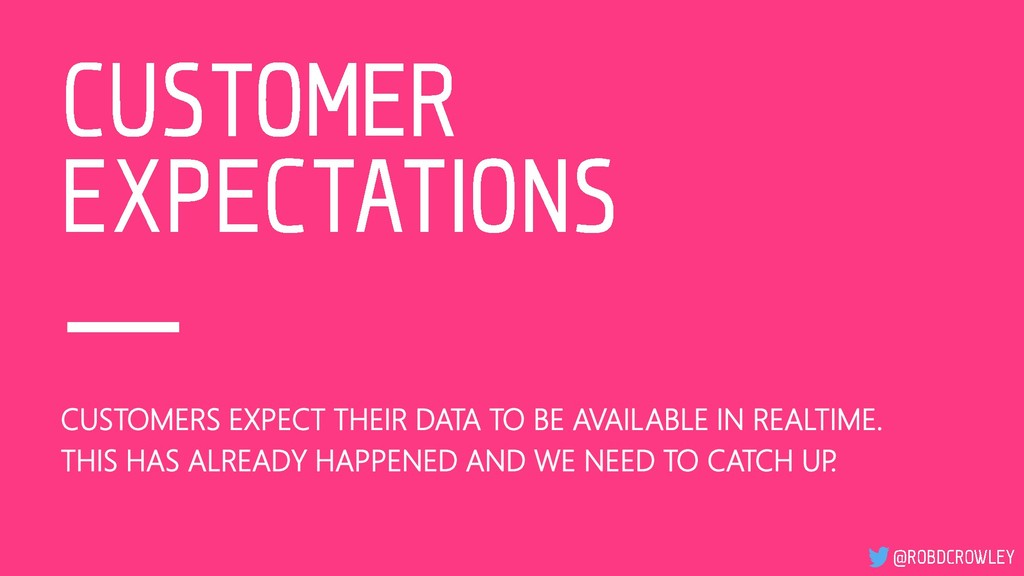 CUSTOMERS EXPECT THEIR DATA TO BE AVAILABLE IN ...