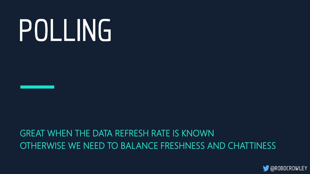 GREAT WHEN THE DATA REFRESH RATE IS KNOWN OTHER...