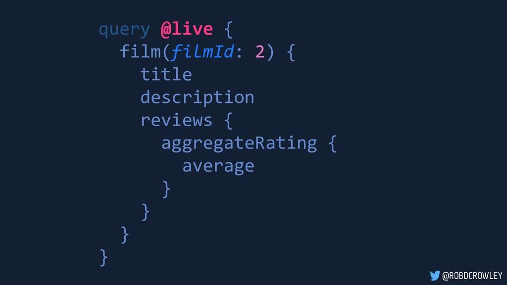 query @live { film(filmId: 2) { title descripti...