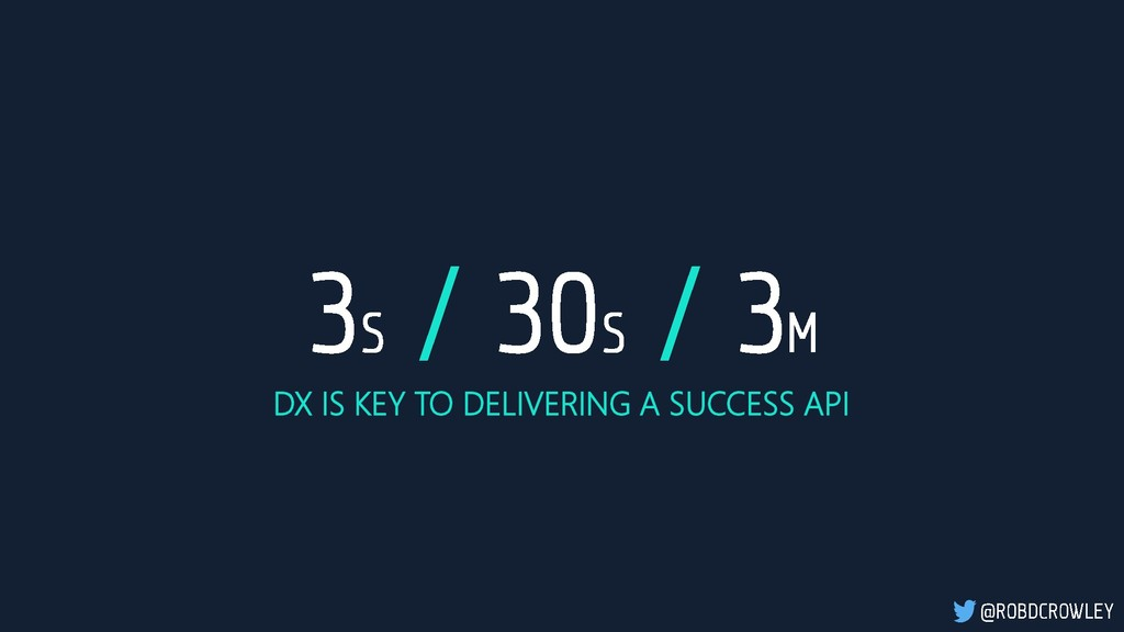 DX IS KEY TO DELIVERING A SUCCESS API