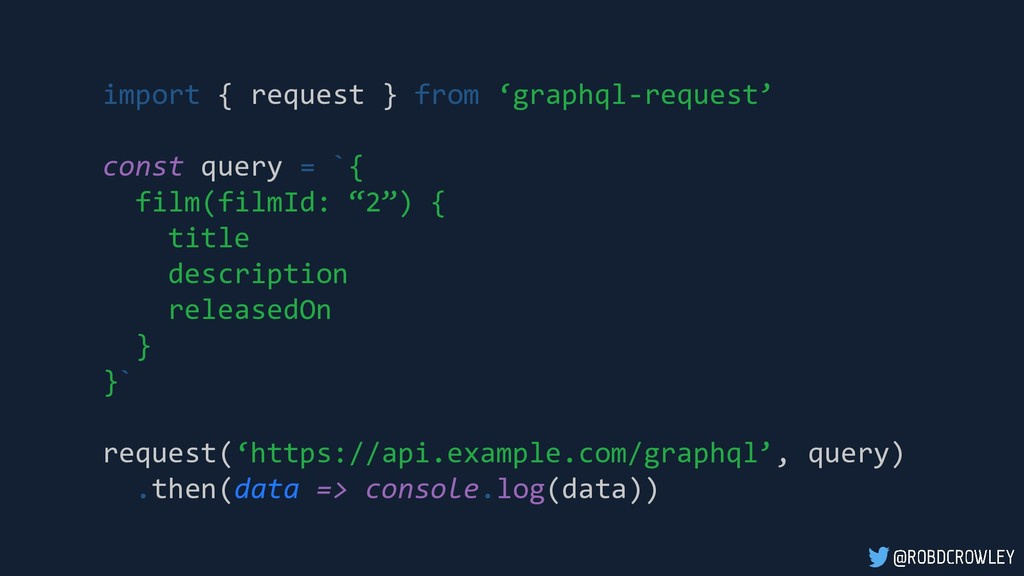 import { request } from 'graphql-request' const...