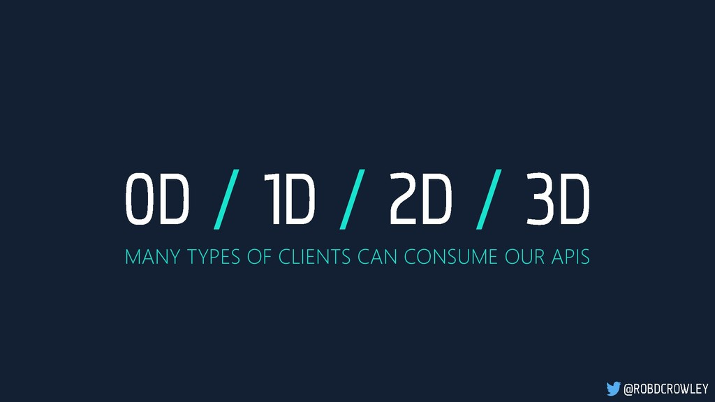MANY TYPES OF CLIENTS CAN CONSUME OUR APIS