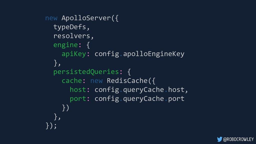 new ApolloServer({ typeDefs, resolvers, engine:...