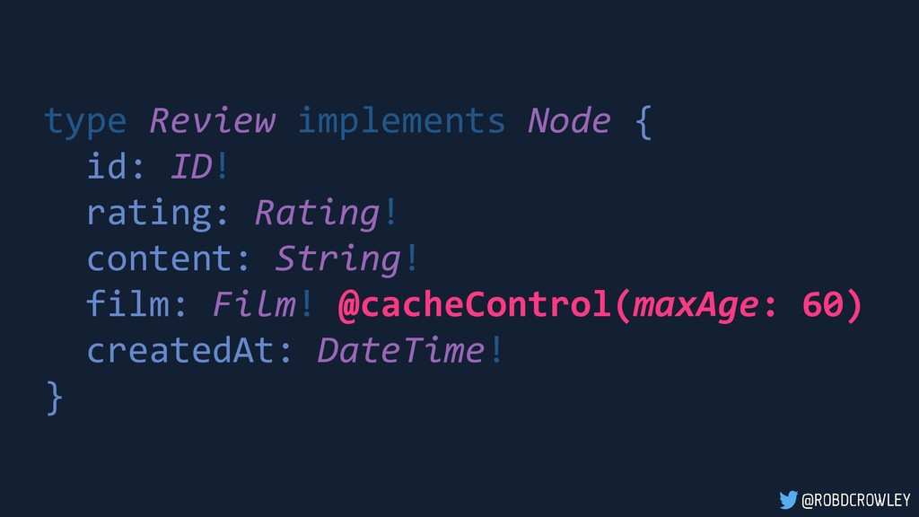 type Review implements Node { id: ID! rating: R...
