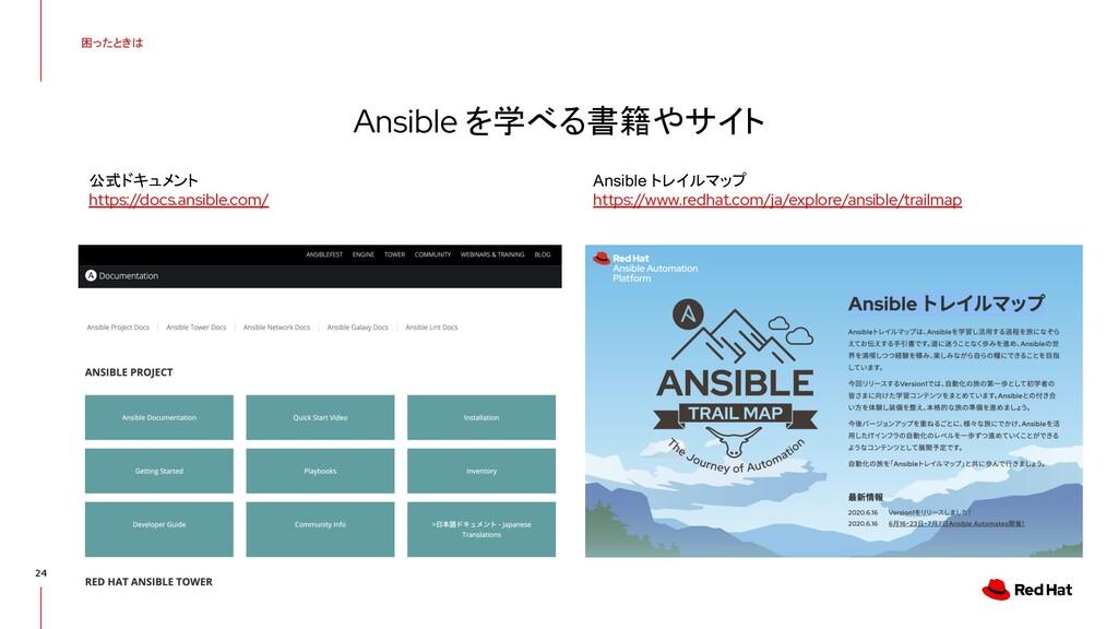困ったときは 24 Ansible を学べる書籍やサイト Ansible トレイルマップ ht...