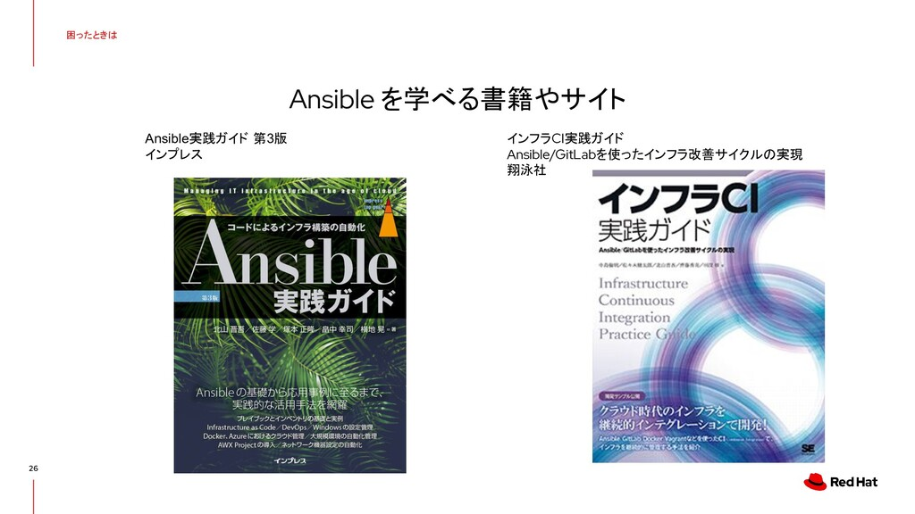 困ったときは 26 Ansible を学べる書籍やサイト Ansible実践ガイド 第3版 イ...