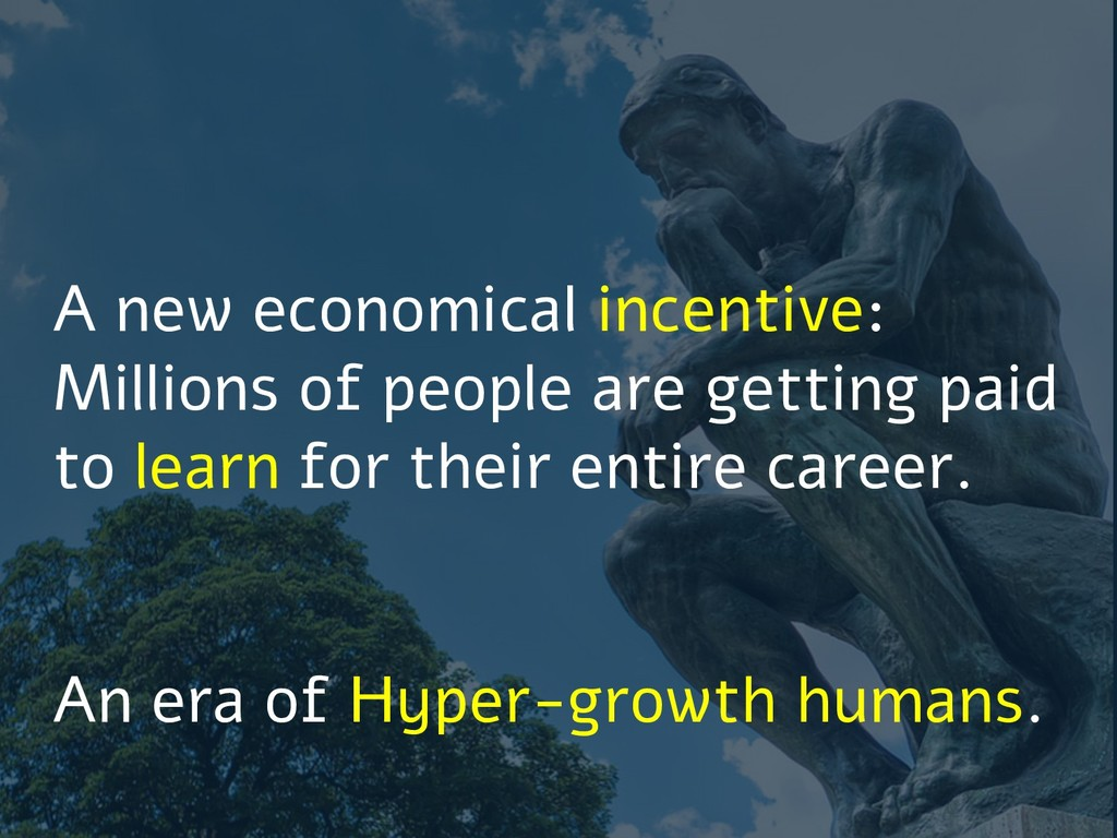 A new economical incentive: Millions of people ...