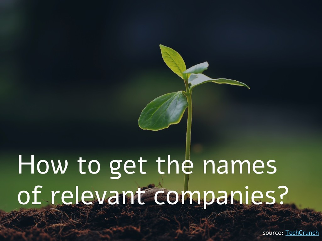 How to get the names of relevant companies? sou...