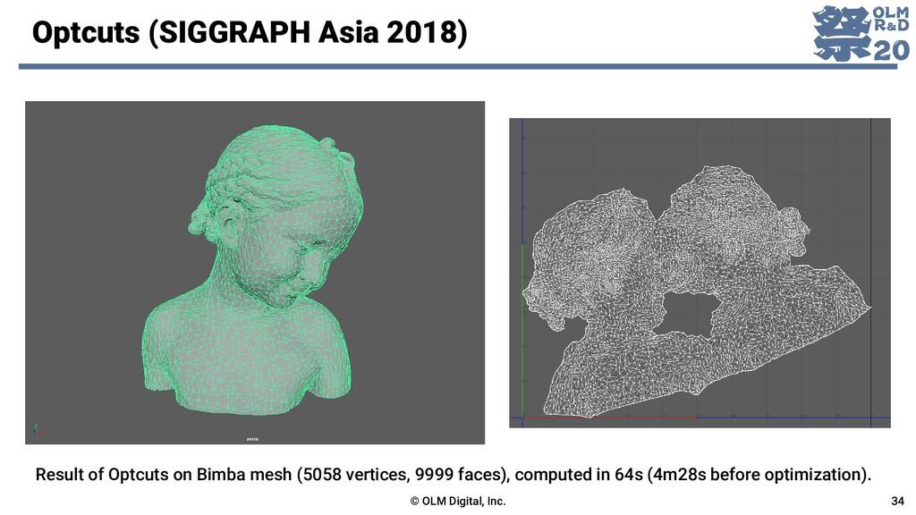 Optcuts (SIGGRAPH Asia 2018) © OLM Digital, Inc...
