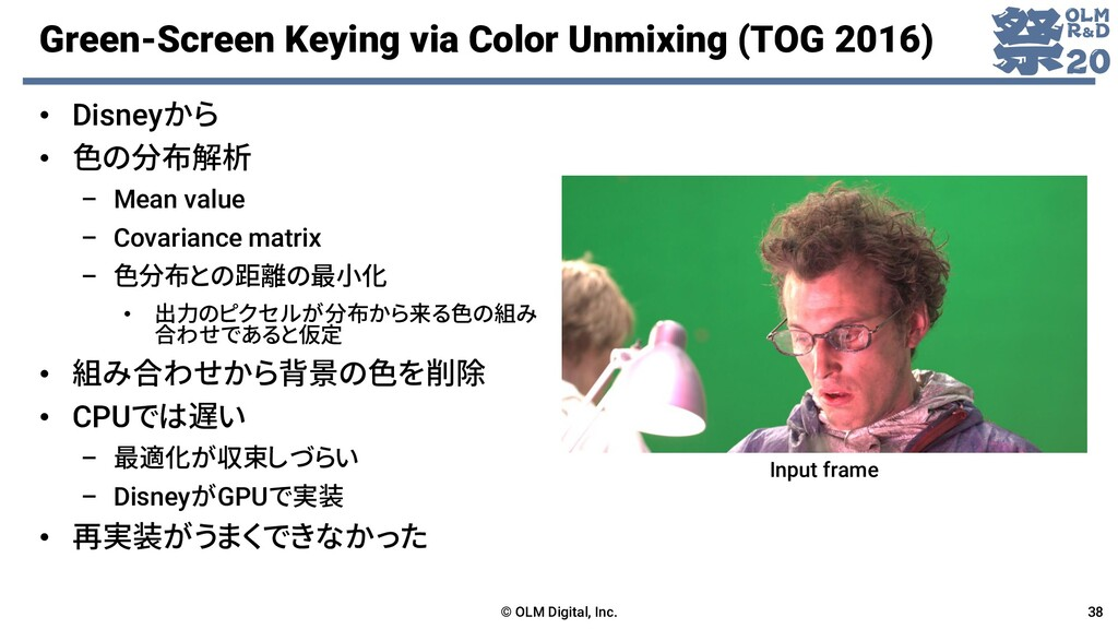 Green-Screen Keying via Color Unmixing (TOG 201...
