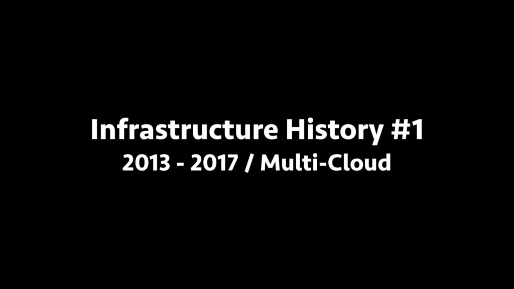 Infrastructure History #1 2013 - 2017 / Multi-C...
