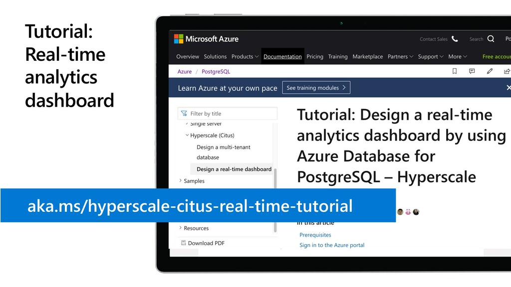 Tutorial: Real-time analytics dashboard aka.ms/...