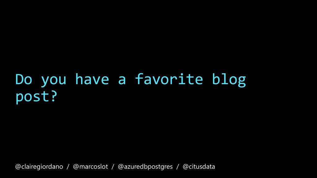 Do you have a favorite blog post? @clairegiorda...
