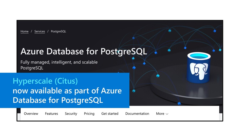 Hyperscale (Citus) now available as part of Azu...