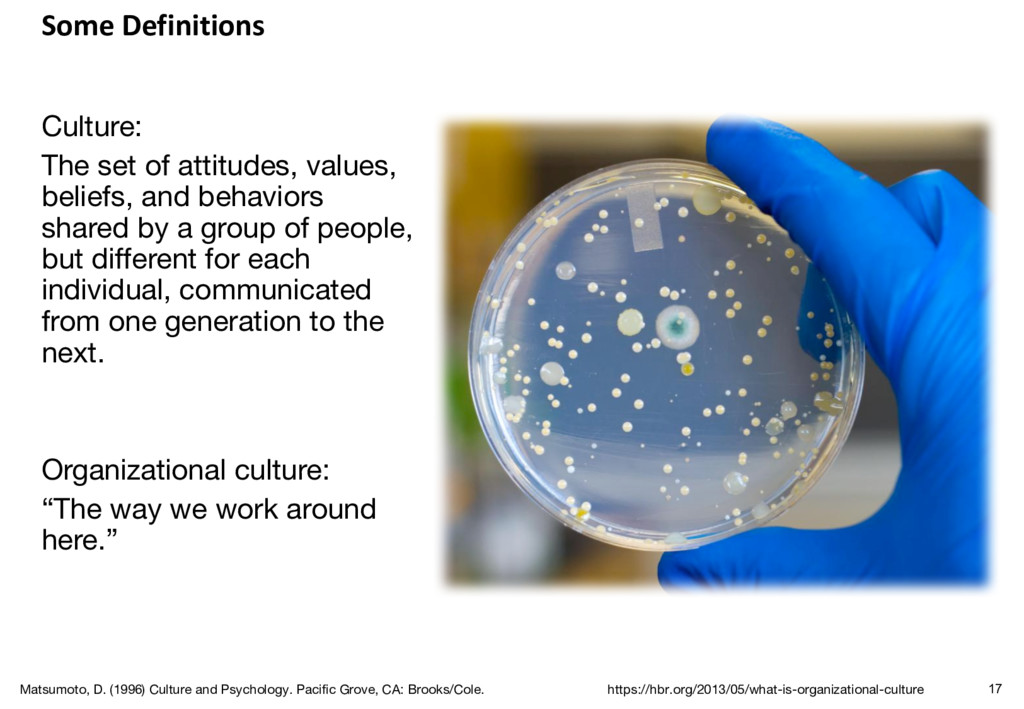 Some Definitions Culture: The set of attitudes,...