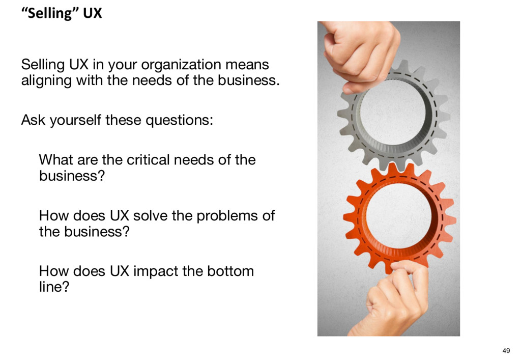 """""""Selling"""" UX Selling UX in your organization me..."""