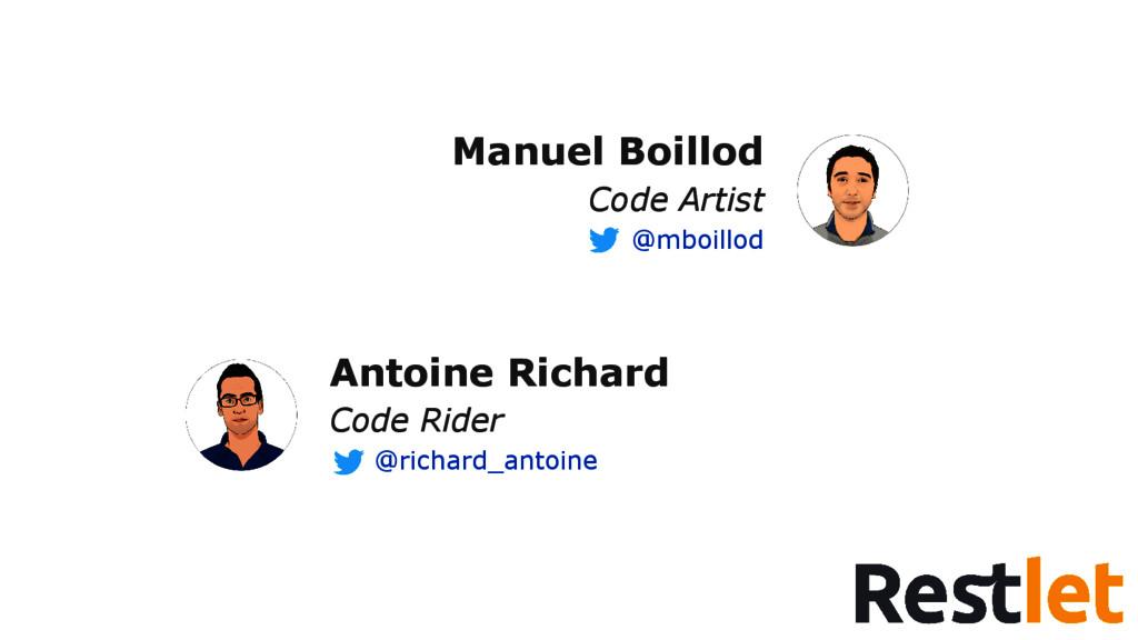 Manuel Boillod Code Artist @mboillod Antoine Ri...
