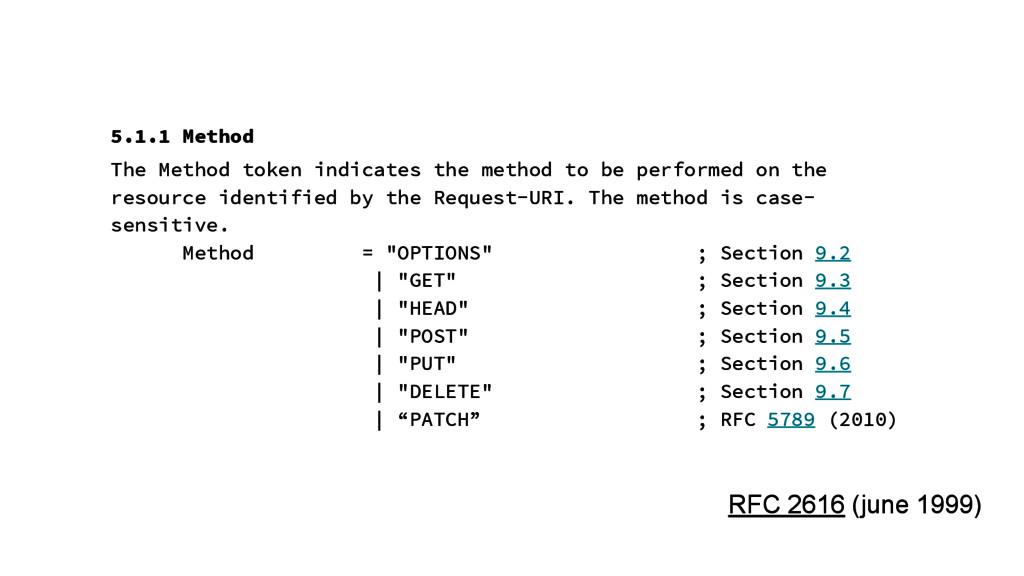 5.1.1 Method The Method token indicates the met...
