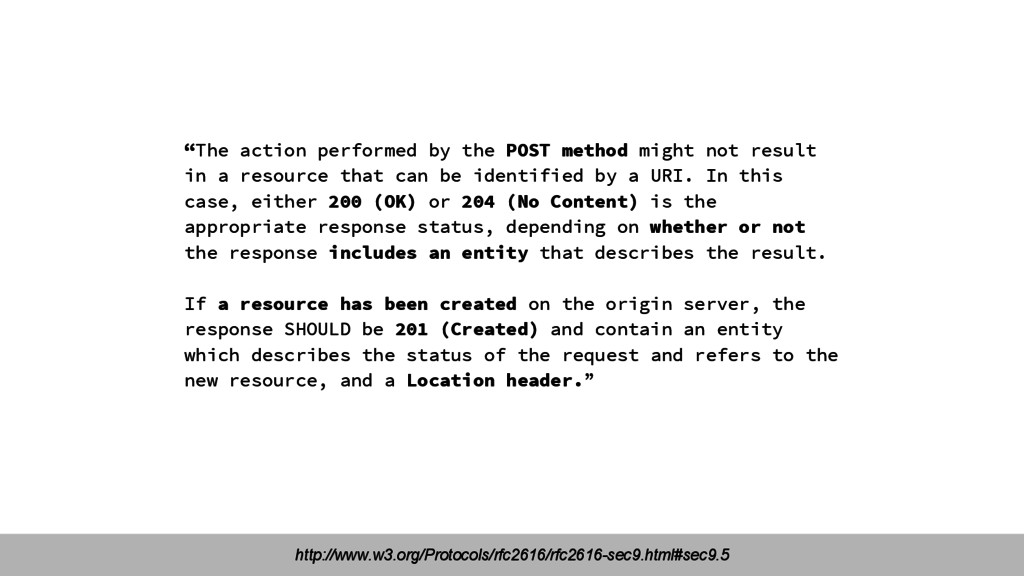 """""""The action performed by the POST method might ..."""